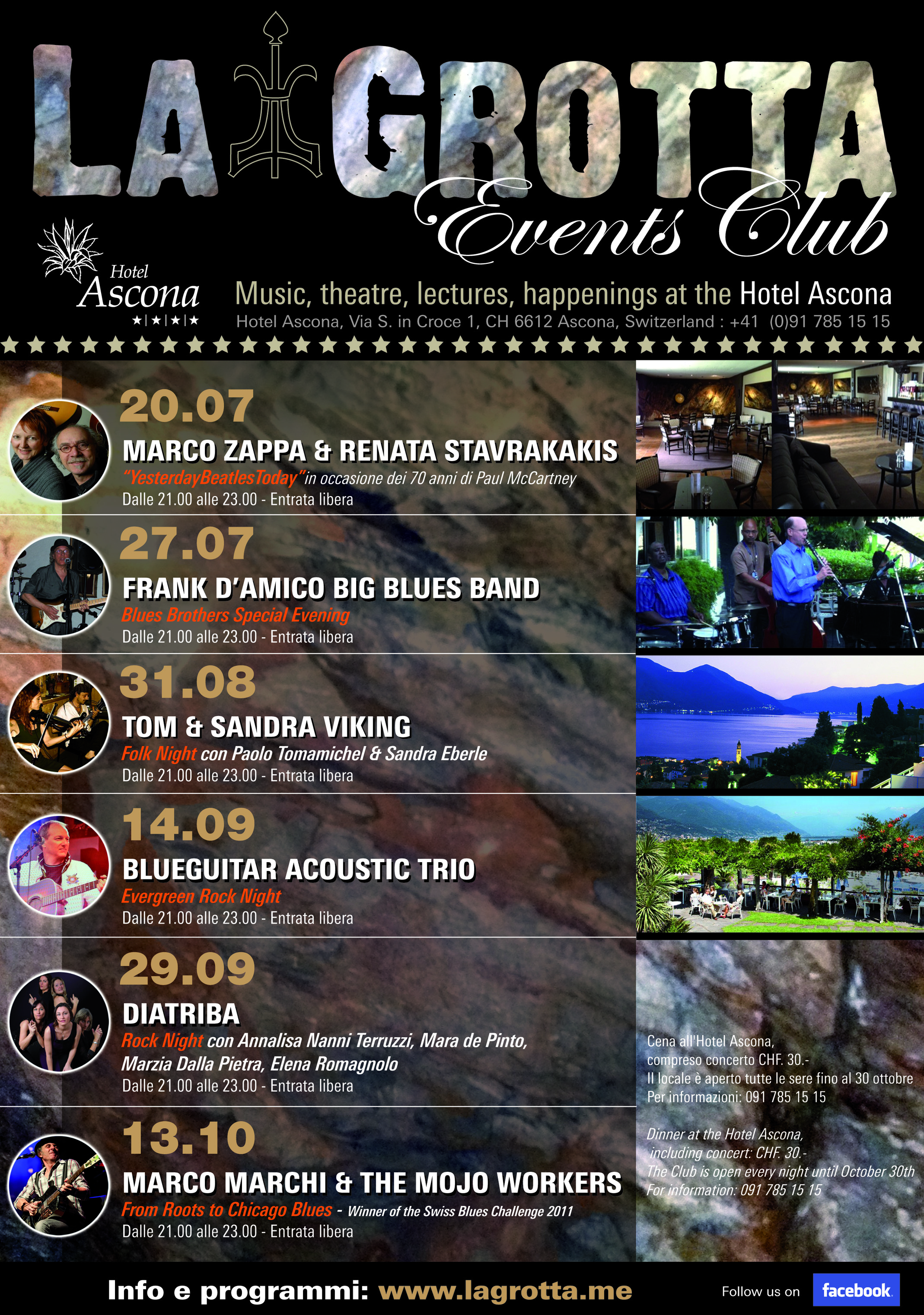 Concerti all'Albergo Ascona