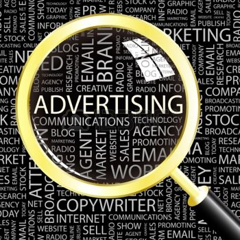 9033704-la-pubblicit--lente-di-ingrandimento-su-sfondo-con-termini-differenti-associazione-illustrazione-vet